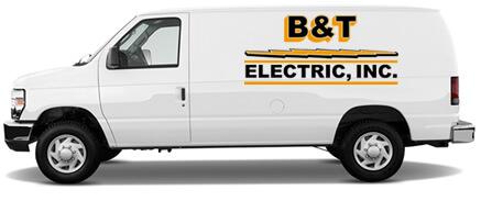 B&T Electric Company Van